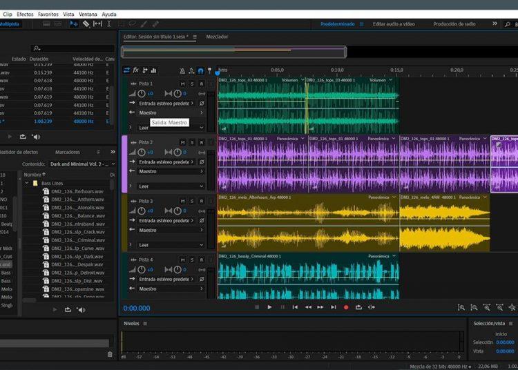 phần mềm chỉnh sửa âm thanh adobe audition
