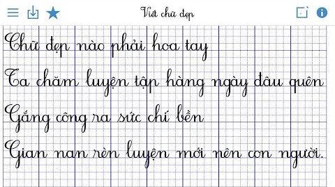 font chữ tập viết