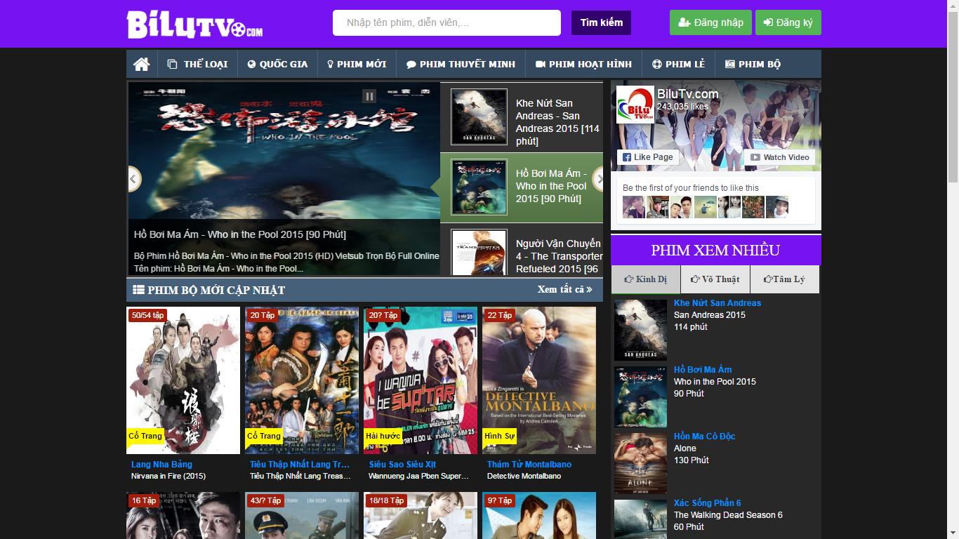 Trang web xem phim HD Bilutv.com