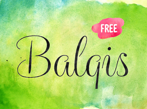 Balqis - Kiểu chữ viết tay cho dân thiết kế