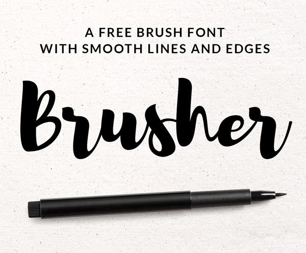 Brusher - Font chữ viết tay đẹp
