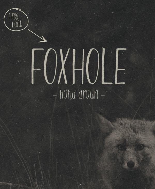 Font chữ viết tay FOXHOLE